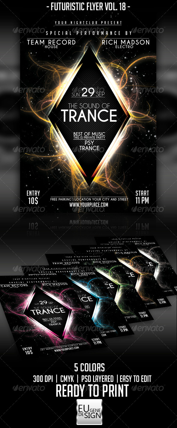 GraphicRiver Futuristic Flyer Vol 18 5586584