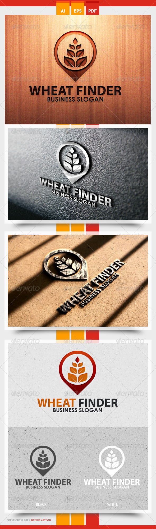 Wheat Finder Logo Template - Nature Logo Templates