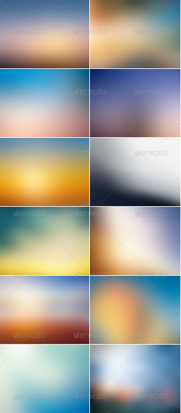 GraphicRiver 12 Blurred HD Backgrounds 5568317