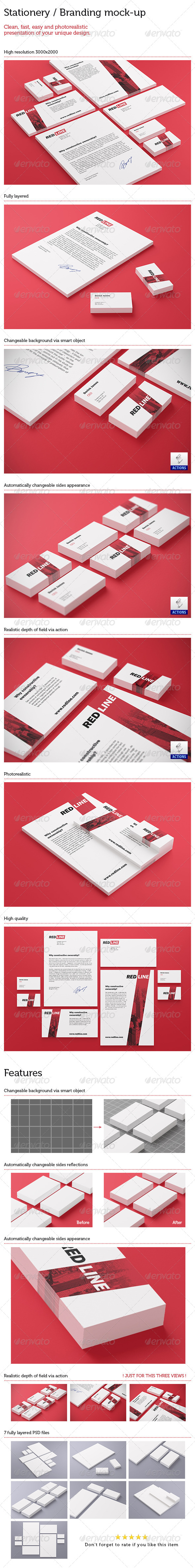 GraphicRiver Stationery Branding Mock Up 5587044