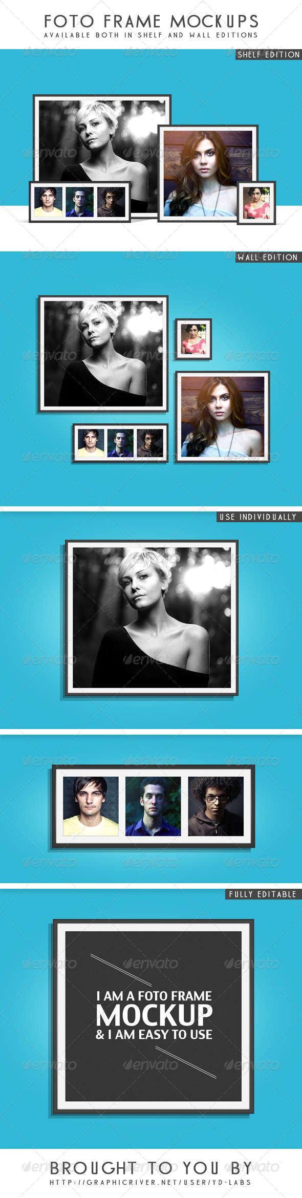 Foto frame Mockups - Photo Templates Graphics