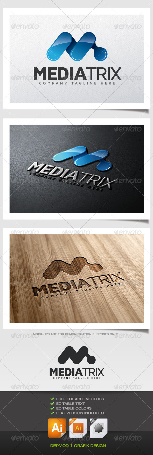 GraphicRiver Mediatrix Logo 5587164