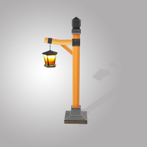Street Light Low Poly - 3DOcean Item for Sale