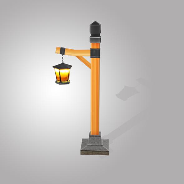 3DOcean Street Light Low Poly 5587172