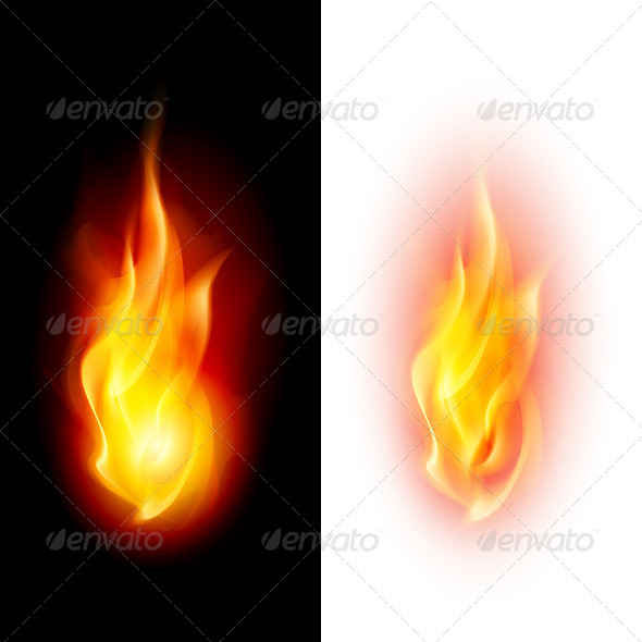 GraphicRiver Two Fire Flames 5587264