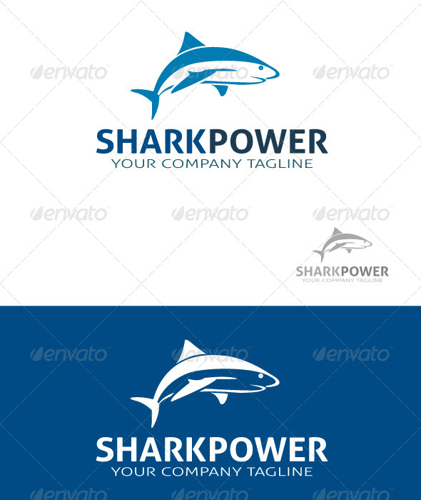 GraphicRiver Sharkpower Logo 5587282