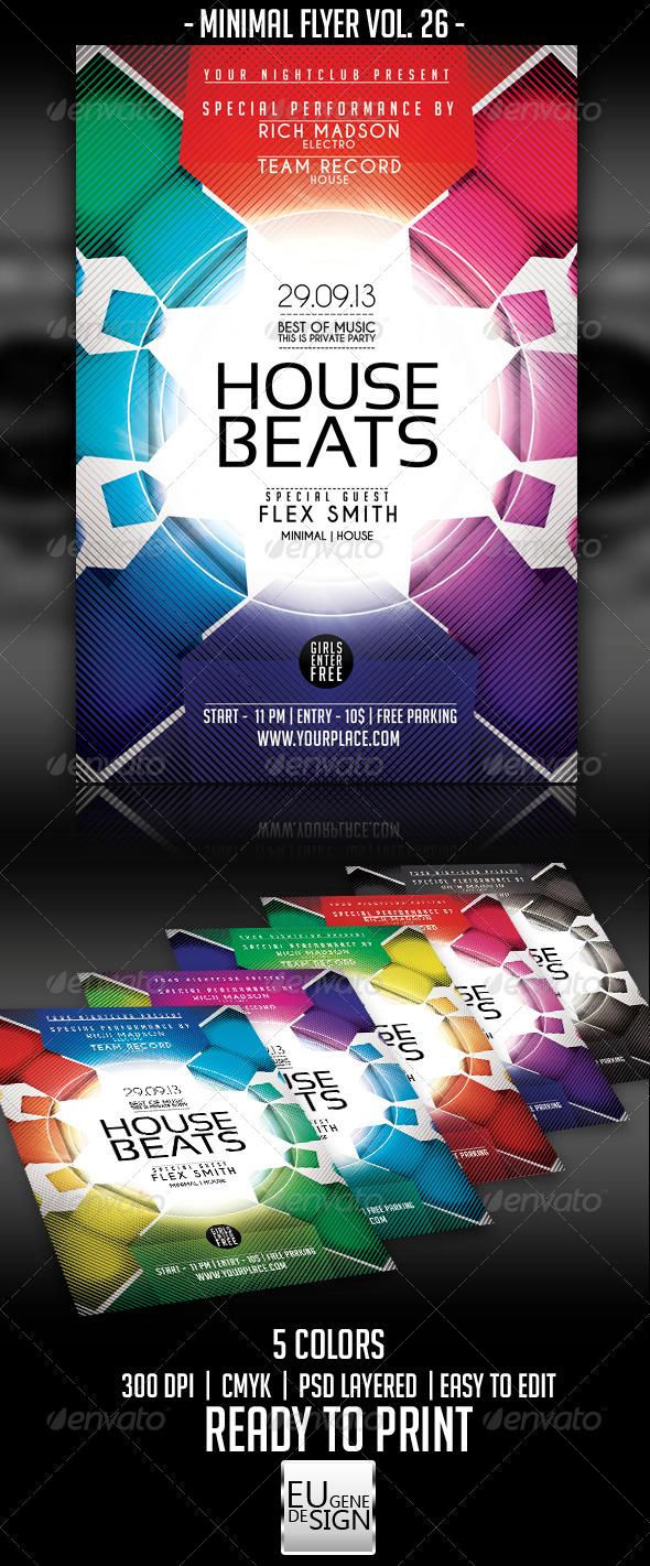 Minimal Flyer Vol. 26 - Clubs & Parties Events