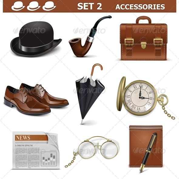 GraphicRiver Vector Male Accessories Set 5587354