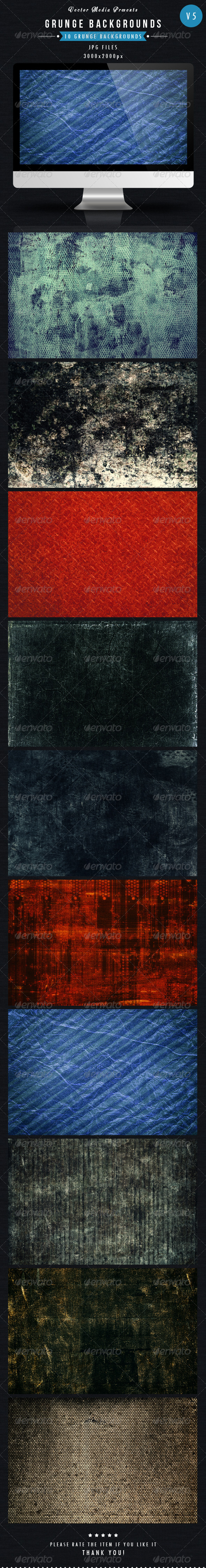 GraphicRiver Grunge Backgrounds Vol 5 5587373