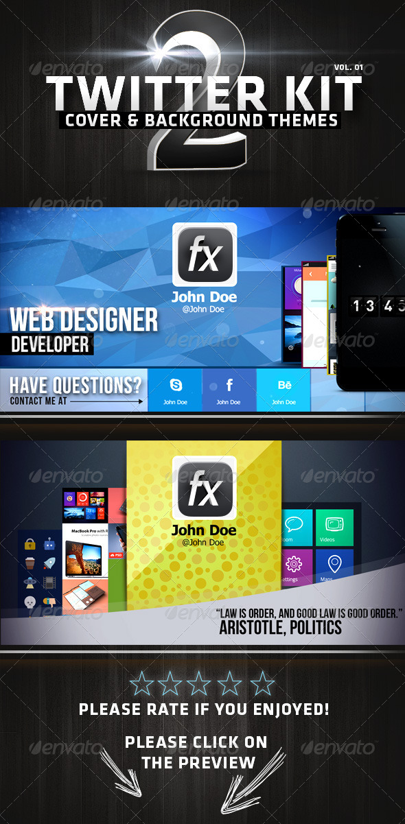GraphicRiver Twitter Kit Vol 01 5587946