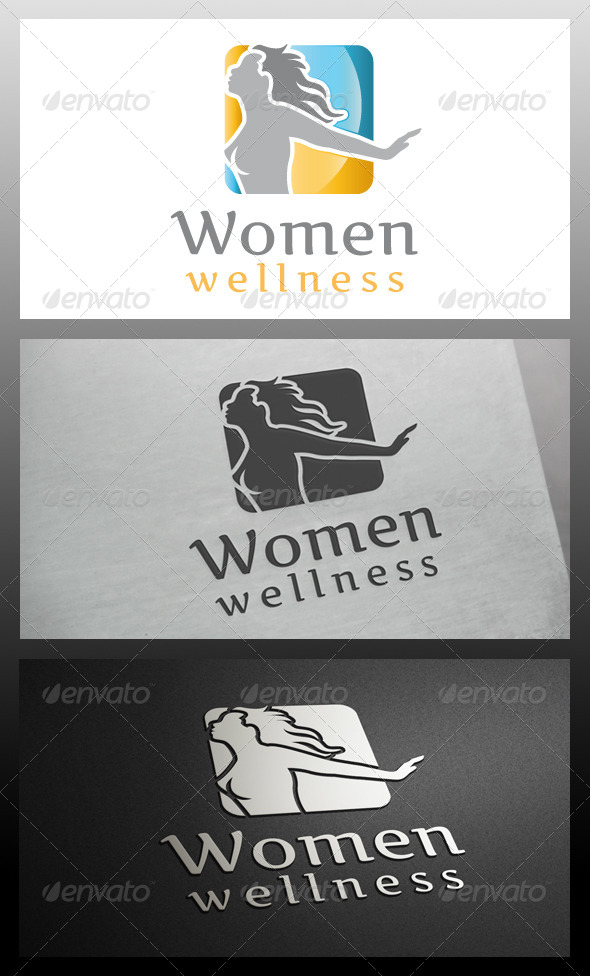 GraphicRiver Women Wellness Logo Template 5588181