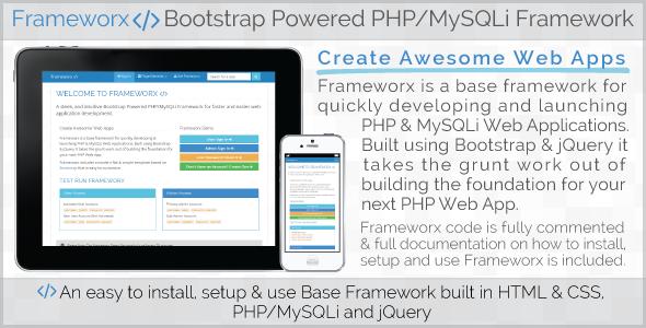 CodeCanyon Frameworx Bootstrap Powered PHP MySQLi Framework 5588440