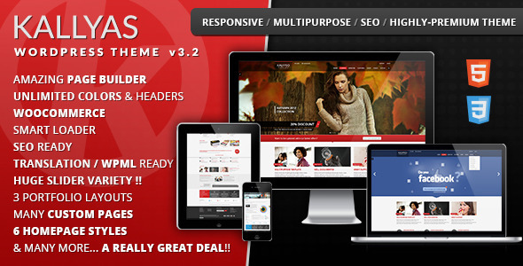 KALLYAS - Responsive Multi-Purpose WordPress Theme - WooCommerce eCommerce