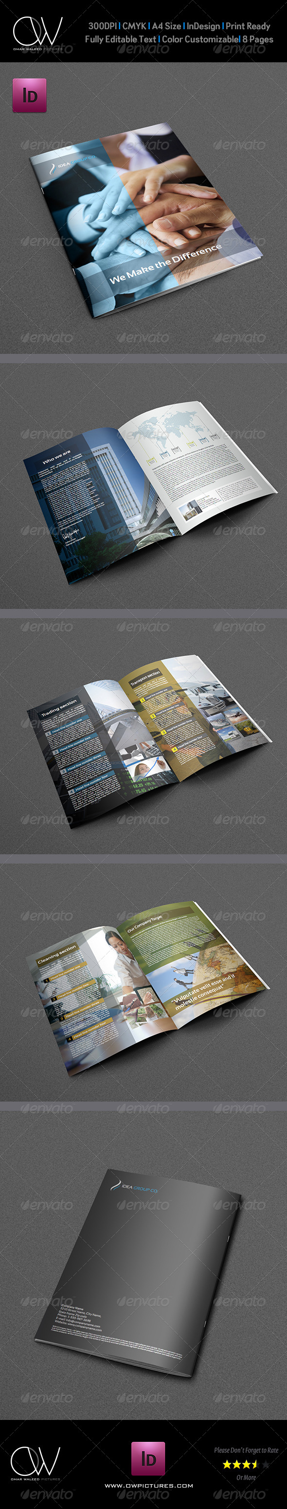 Company Brochure Template Vol.8 - 8 Pages - Brochures Print Templates
