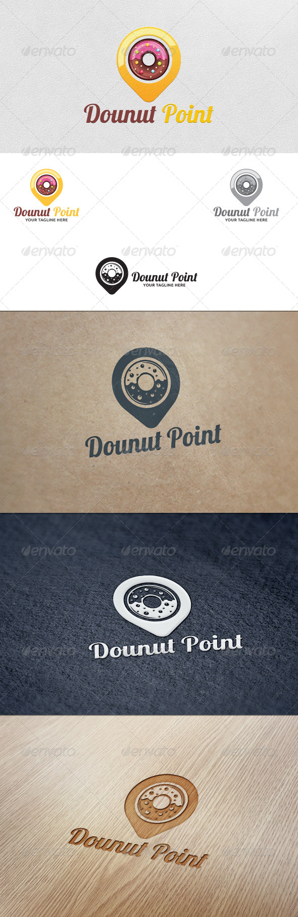 GraphicRiver Donut Point Logo Template 5588836