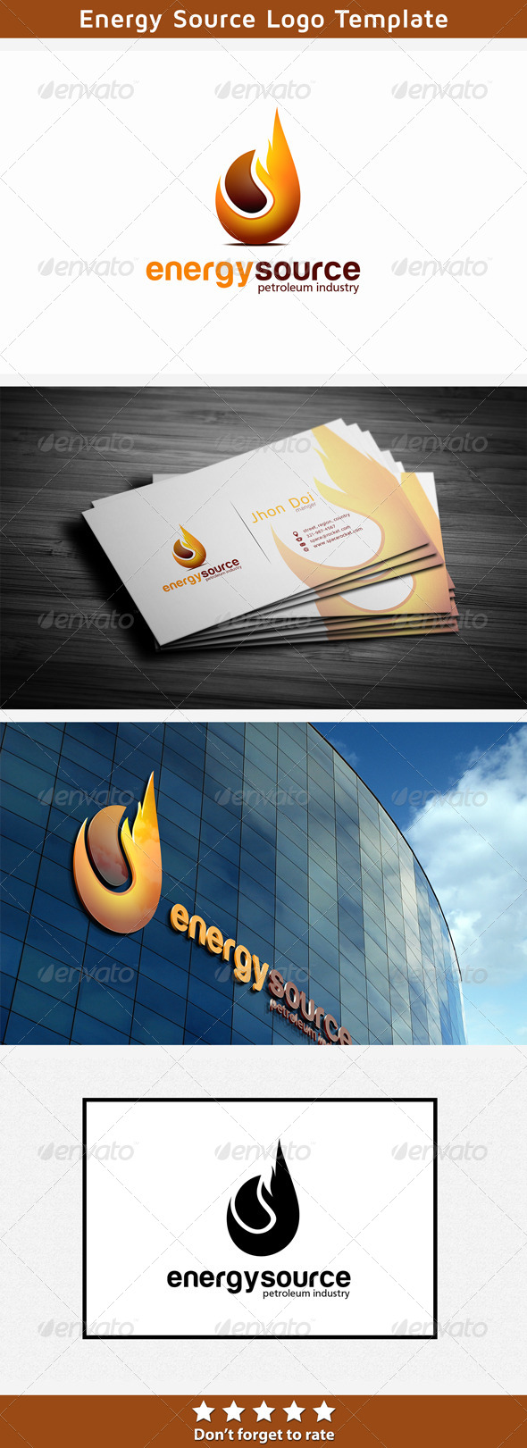 Oil and Gas Energy - Nature Logo Templates