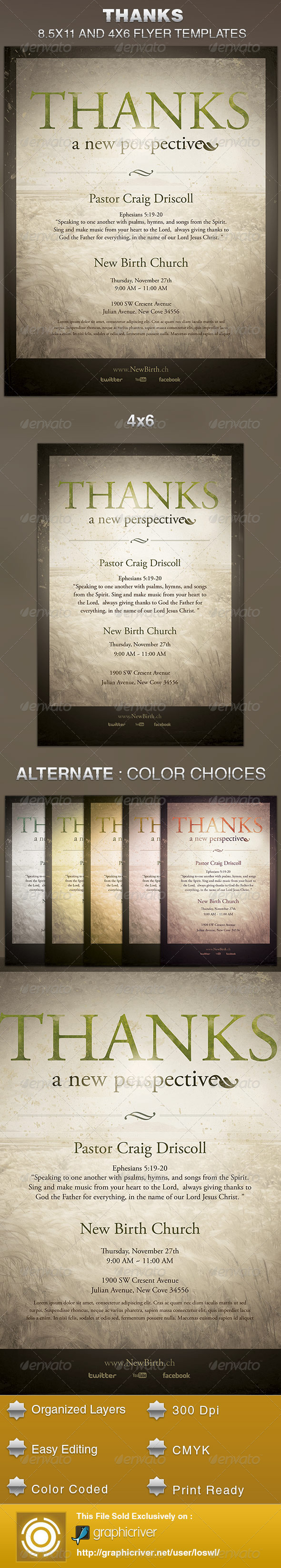 Thanks-A New Perspective Church Flyer Template - Church Flyers