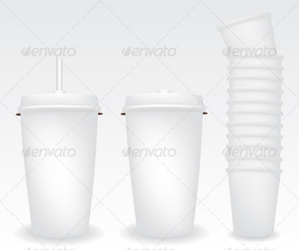 GraphicRiver Paper Cups Illustration 5589739
