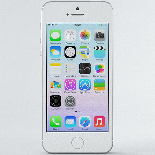 Apple iPhone 5s Silver - 3DOcean Item for Sale