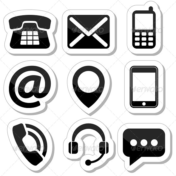 GraphicRiver Contact Icons Set 5586607