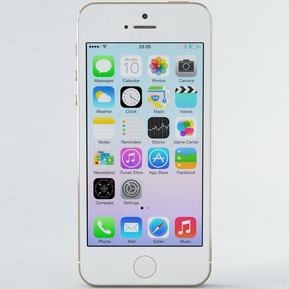 Apple iPhone 5s Gold - 3DOcean Item for Sale