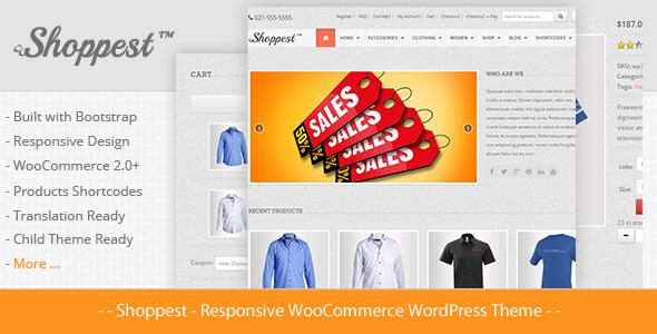 ThemeForest Shoppest Responsive WooCommerce WordPress Theme 5490550