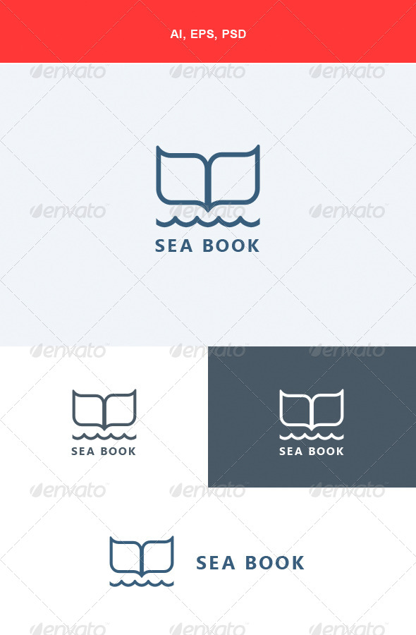 GraphicRiver Sea Book Logo 5590403