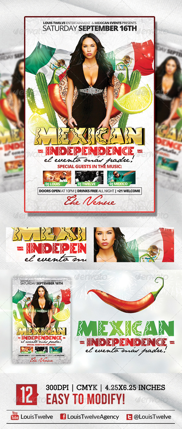 Mexican Independence | Flyer Template - Holidays Events