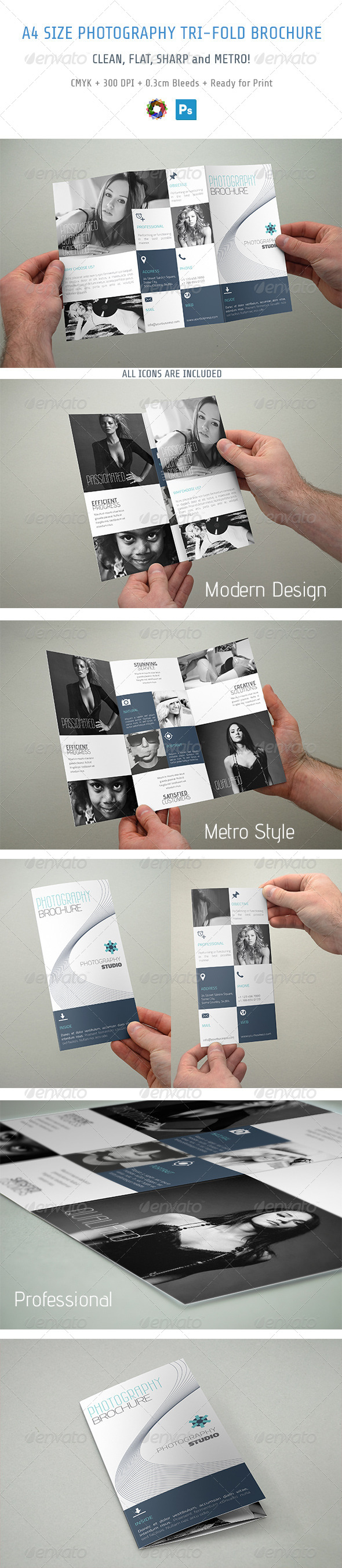 GraphicRiver Photography Trifold Brochure 5591107