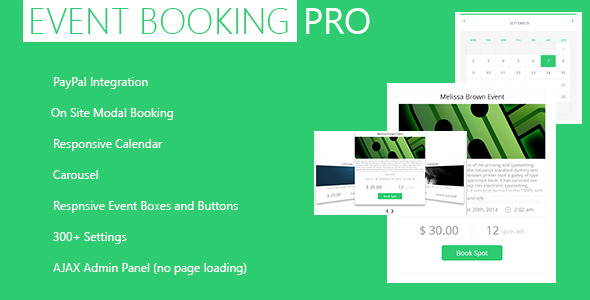 CodeCanyon Event Booking WP Plugin [paypal or offline] 5543552