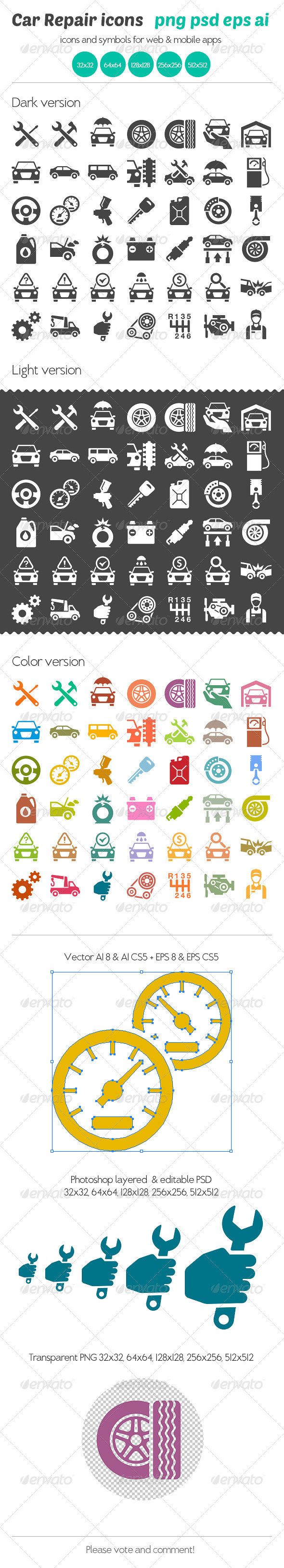 Car Repair Icons - Icons
