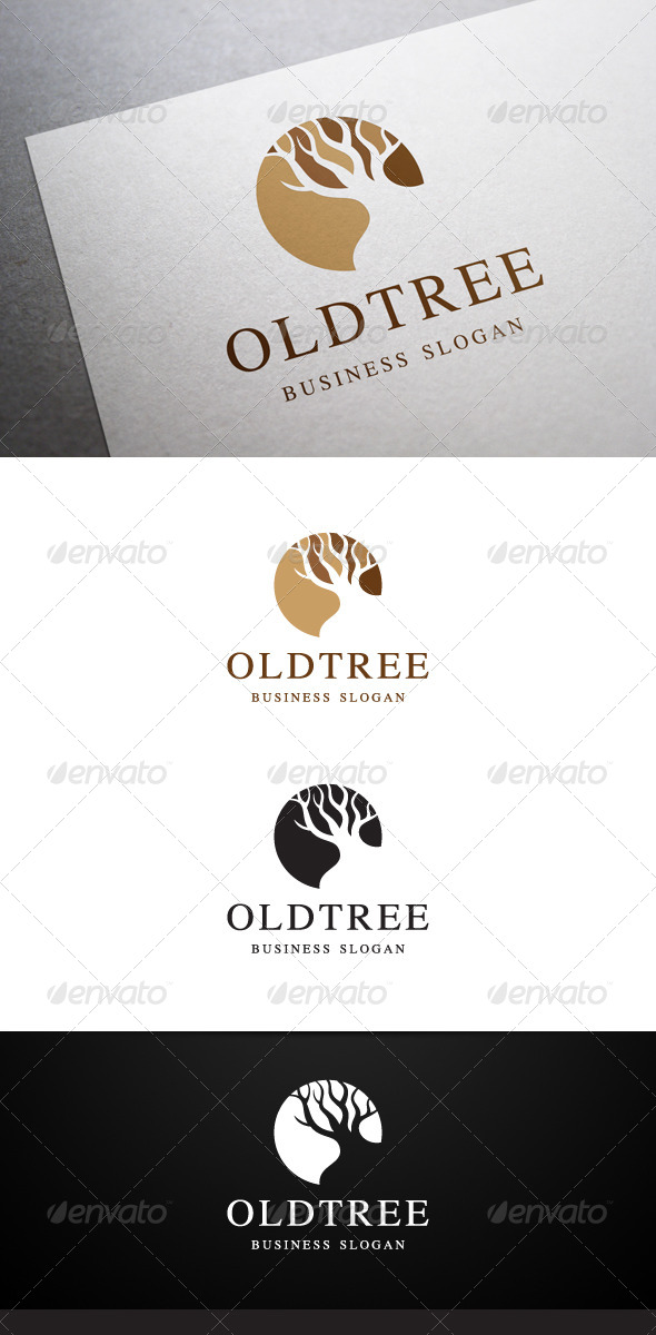 GraphicRiver Old Tree Logo 5591189