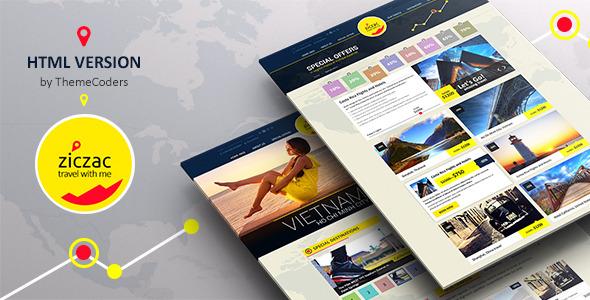 Ziczac Travel – HTML5 Responsive Booking Template