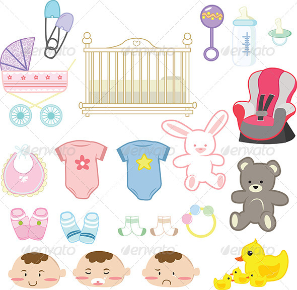 GraphicRiver Baby Items 5591547