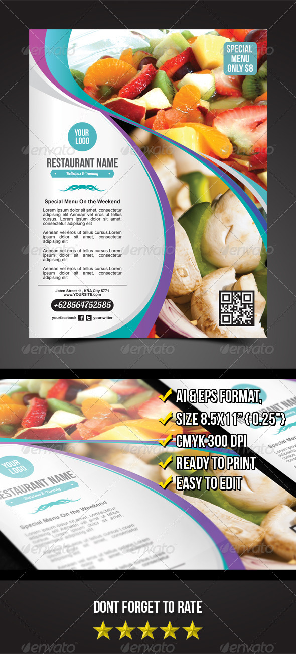 GraphicRiver Restaurant Flyer 5557944