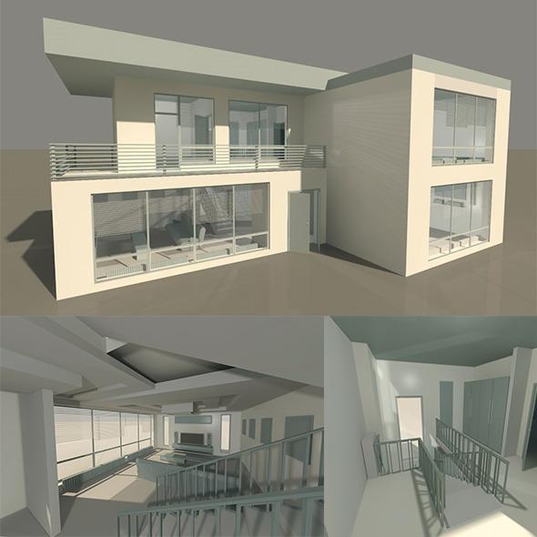 3DOcean HOUSE interior exterior 5585385