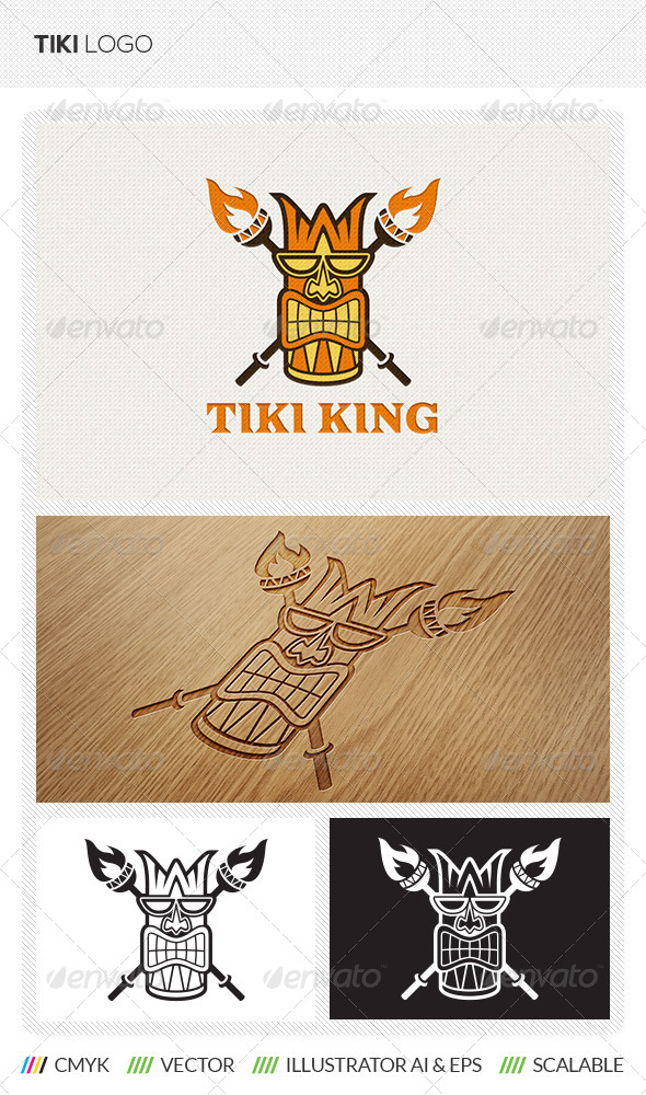 GraphicRiver Tiki King Logo Template 5591975