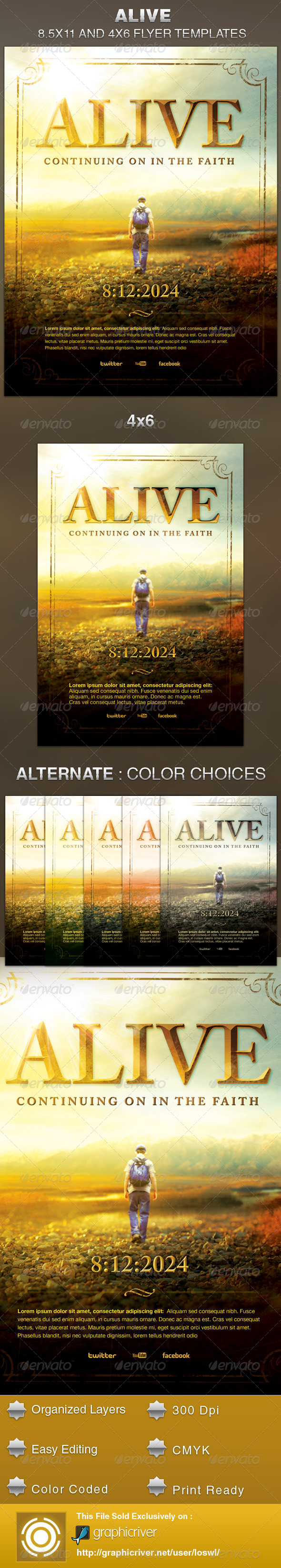 GraphicRiver Alive Church Flyer Template 5591976