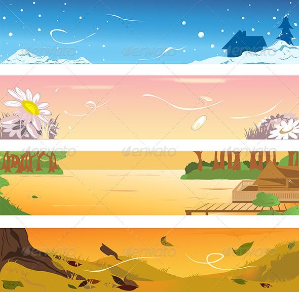 Four Seasons Banners