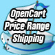 opencart price range domestic and international