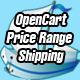 opencart price range domestic and international