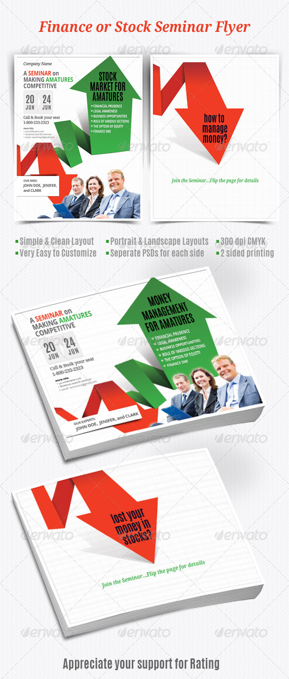 GraphicRiver Finance or Stock Seminar Flyer 5592065