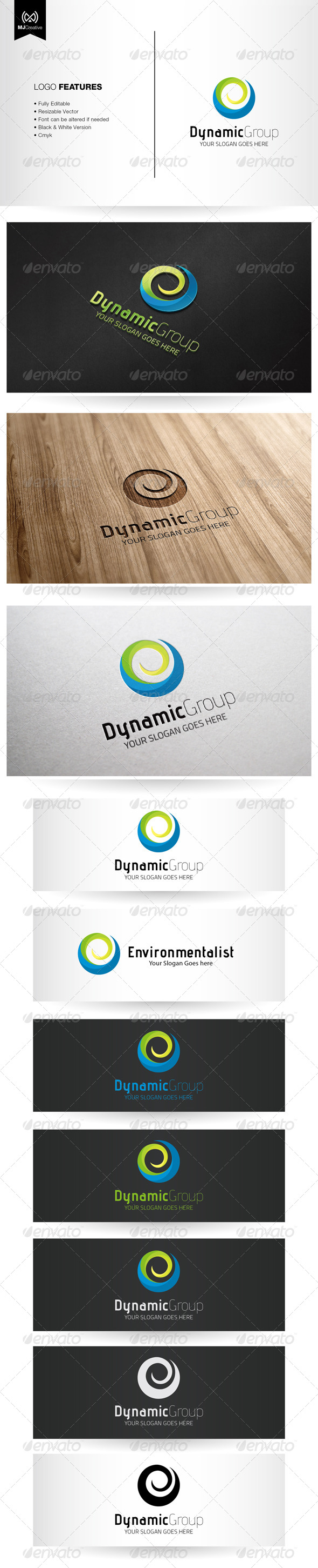 GraphicRiver Dynamic Spiral and Abstract E Logo 5592078