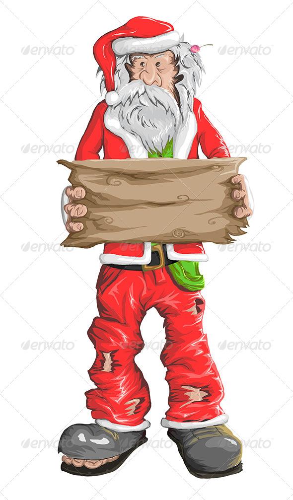 GraphicRiver Homeless Santa Claus 5592282