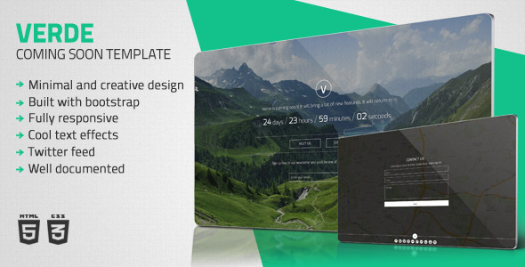 ThemeForest Verde Minimal Coming Soon Template 5581761