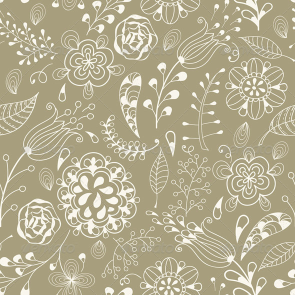 GraphicRiver Vector Seamless Floral Summer Pattern 5592391