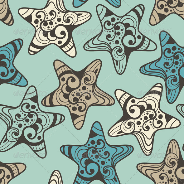 GraphicRiver Vector Seamless Pattern with Highly Detailed Stars 5592394