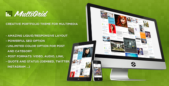 MultiGrid - Creative Portfolio, Multimedia Theme