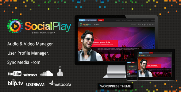 SocialPlay - Media Sharing WordPress Theme Download