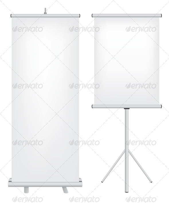 GraphicRiver Roll Up Stand Illustration 5592593
